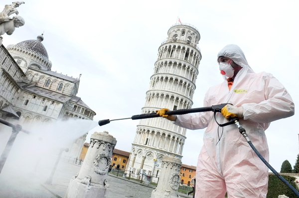 dezinfekcija ulic italija
